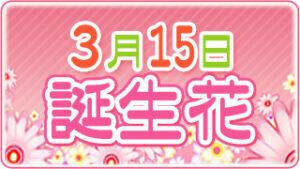 3月15日の誕生花の画像