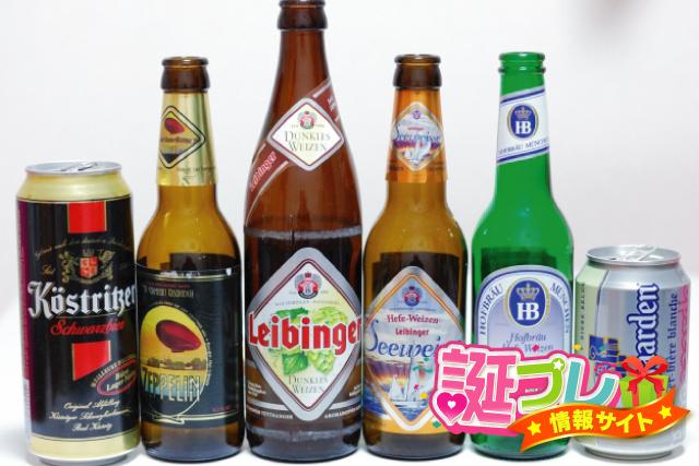 缶ビールと瓶ビールの画像