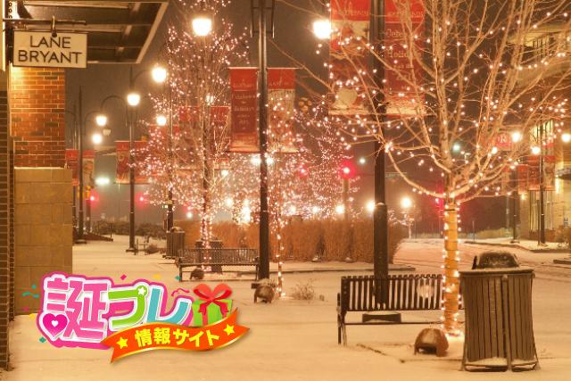 クリスマスのイルミネーションの画像