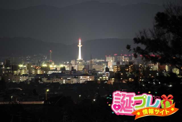 夜景が見える丘の画像