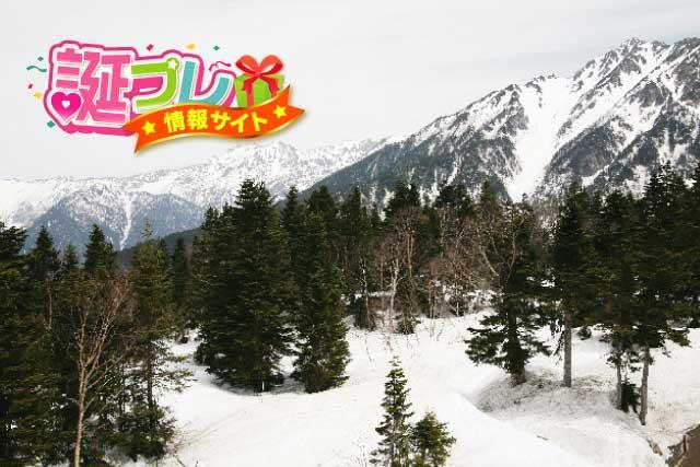 飛騨の雪山の画像
