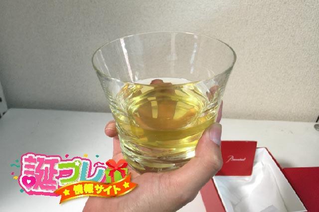 バカラのグラスでおーいお茶(玉露)の画像