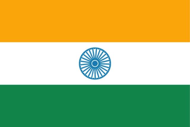 インドの国旗の画像