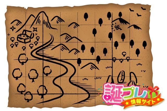宝探しの地図の画像