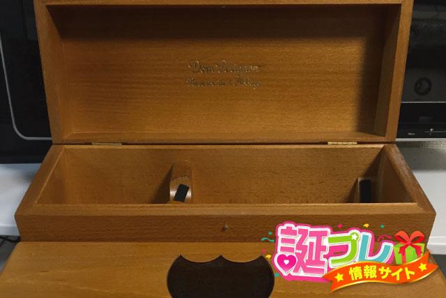 ドンペリゴールドの木箱の画像