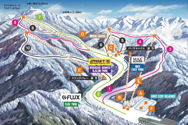 川場スキー場のマップの画像