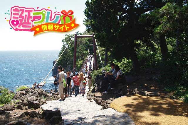 城ヶ崎海岸の吊橋の画像