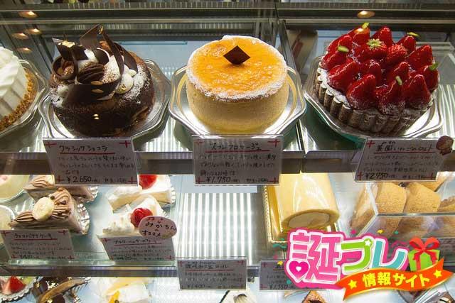 バースデーケーキのサイズの画像