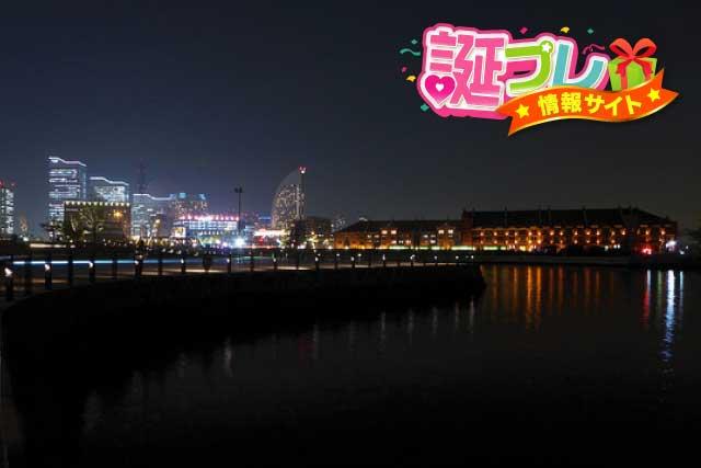 赤レンガ倉庫の夜景の画像