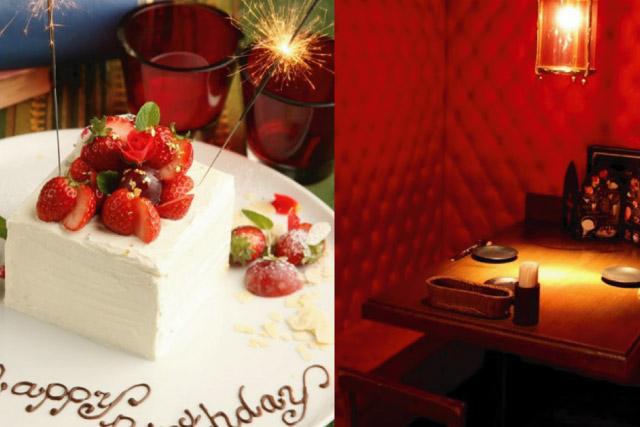 キリストンカフェの誕生日ケーキの画像